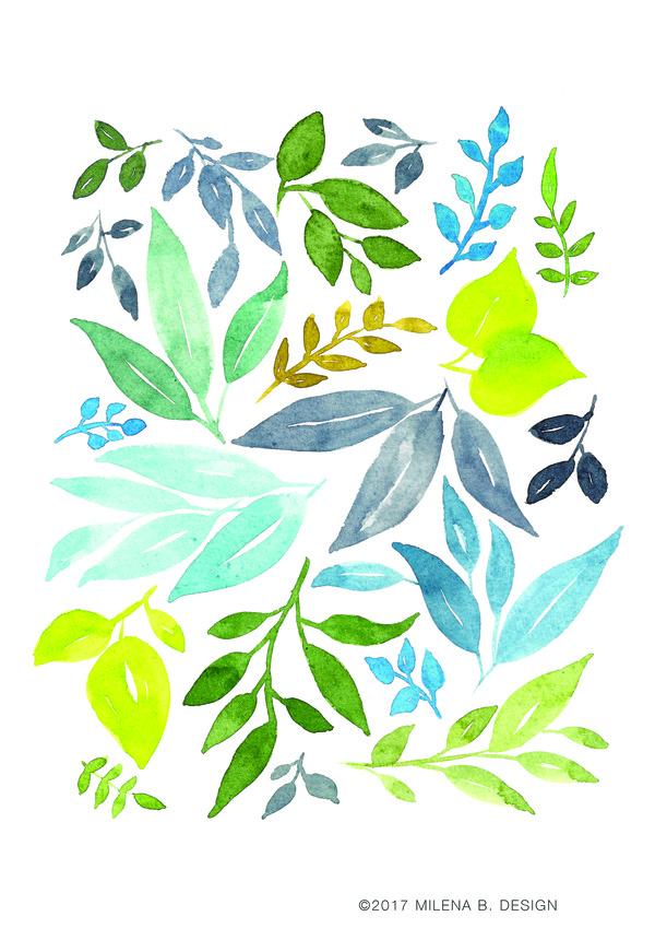 Watercolor Prints Stock Photo 07