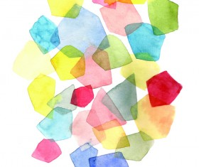Watercolor geometric figure Stock Photo 01