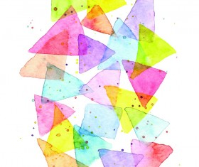 Watercolor geometric figure Stock Photo 02