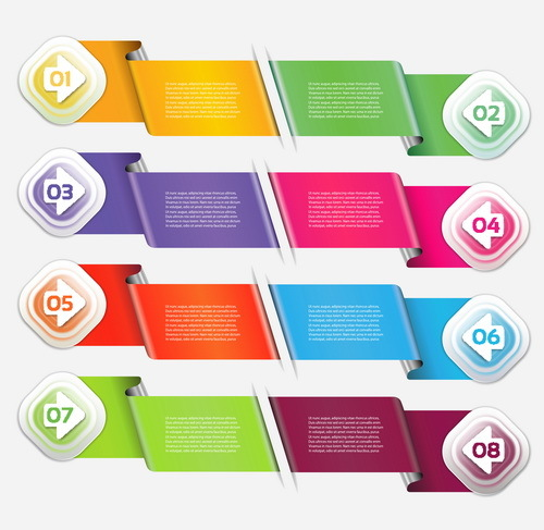 Wave banner with option infographic vector