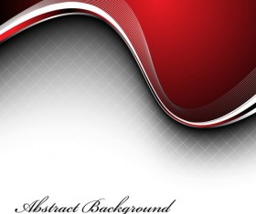 Wavy abstract red background vector