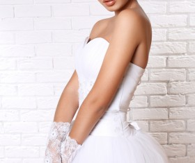 Wear Wedding dress beautiful bride Stock Photo 01