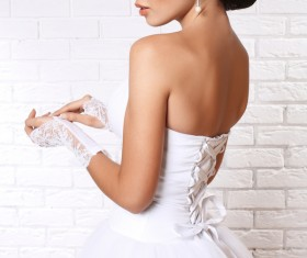 Wear Wedding dress beautiful bride Stock Photo 03