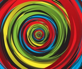 Whirl paint abstract background vector