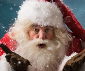 White beard Santa Claus Stock Photo