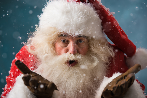 White beard Santa Claus Stock Photo