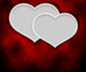 White heart with valentine background vector