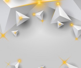 White triangle background with star light vector