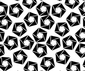 White with black geometry vector seamless pattern 02