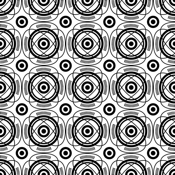 White with black geometry vector seamless pattern 03