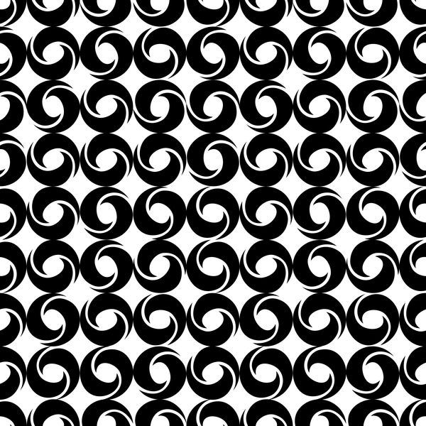White with black geometry vector seamless pattern 04