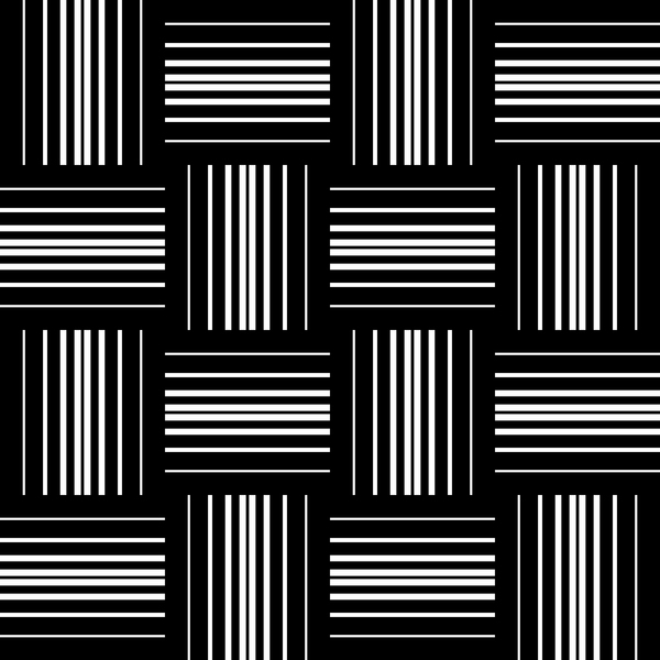 White with black geometry vector seamless pattern 05