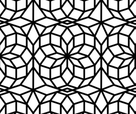 White with black geometry vector seamless pattern 08