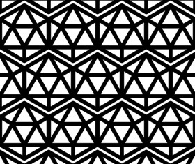 White with black geometry vector seamless pattern 09