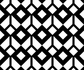White with black geometry vector seamless pattern 10