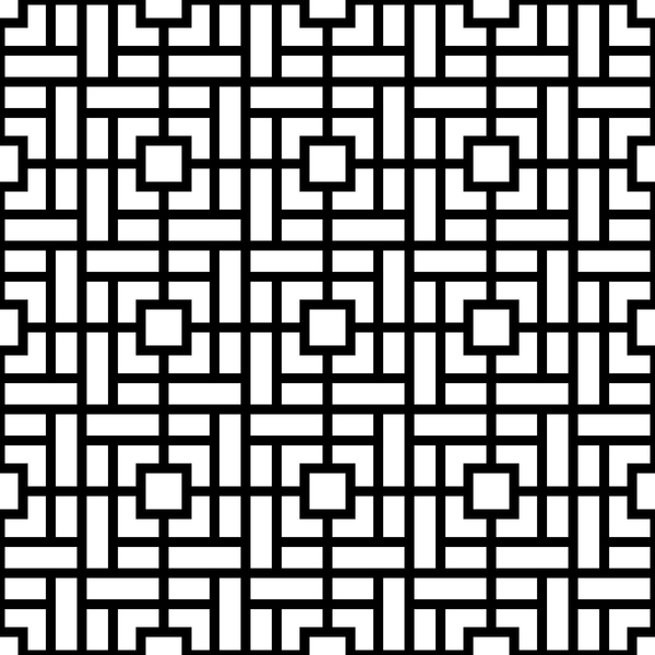 White with black geometry vector seamless pattern 11