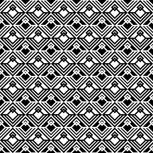 White with black geometry vector seamless pattern 12