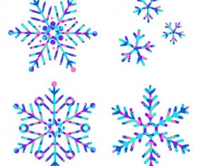 Winter snowflake illustration vectors set