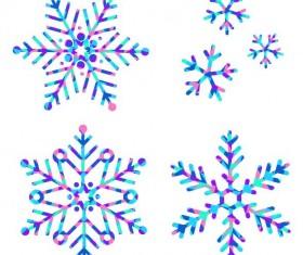 Winter snowflake illustration vectors set