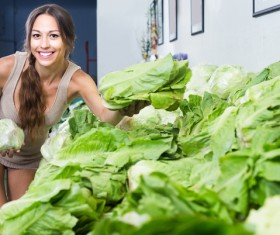 Woman buying vegetables Stock Photo 01