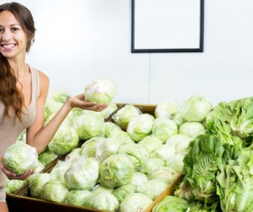 Woman buying vegetables Stock Photo 03