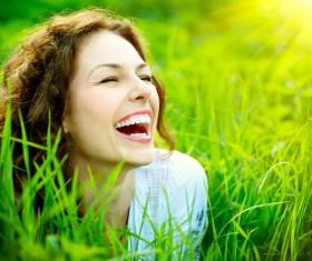 Woman enjoying the summer sun Stock Photo 04