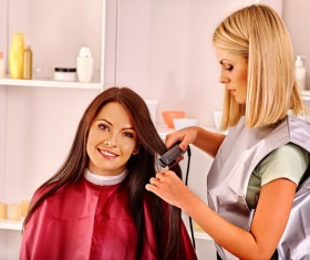 Woman perming in the beauty salon Stock Photo 02