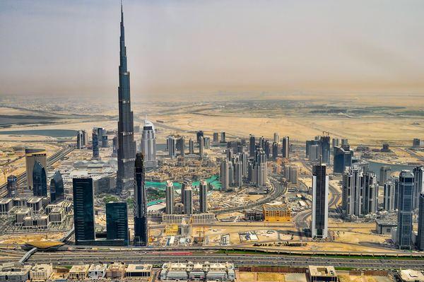 Worlds tallest building Burj Dubai Stock Photo