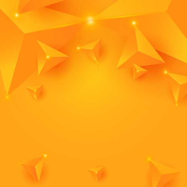 Yellow triangle background with star light vector 01