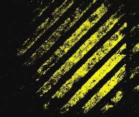 Yellow trie track with black background vector