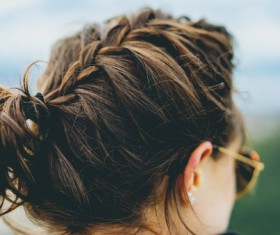 Young girl with beautiful hairstyle Stock Photo