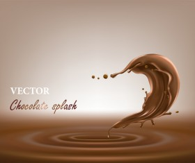 chocolate splash vector background