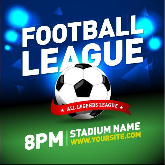 football league poster template vector