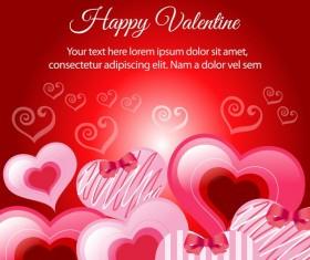 happy valentine various heart vector
