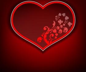 heart frame with valentine decor vector