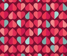heart rows vector material