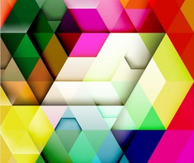 hexagon colorful abstract backgrounds vectors 01