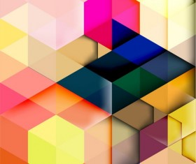 hexagon colorful abstract backgrounds vectors 02