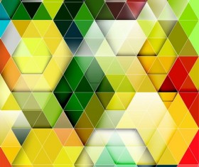 hexagon colorful abstract backgrounds vectors 03