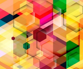 hexagon colorful abstract backgrounds vectors 04