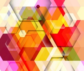 hexagon colorful abstract backgrounds vectors 05