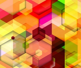 hexagon colorful abstract backgrounds vectors 06