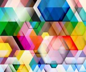 hexagon colorful abstract backgrounds vectors 07