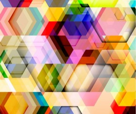 hexagon colorful abstract backgrounds vectors 08