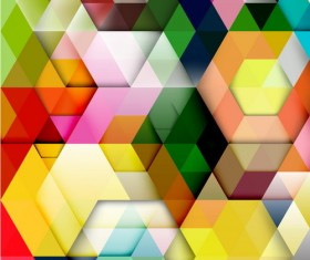 hexagon colorful abstract backgrounds vectors 09