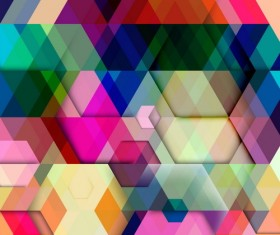 hexagon colorful abstract backgrounds vectors 10
