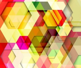 hexagon colorful abstract backgrounds vectors 11