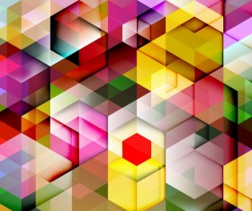 hexagon colorful abstract backgrounds vectors 12
