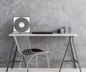 home interior in grey Stock Photo 01