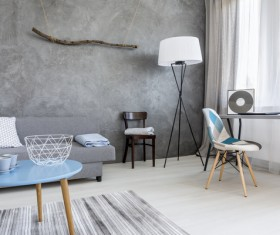 home interior in grey Stock Photo 04